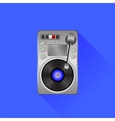 Old turntable vector