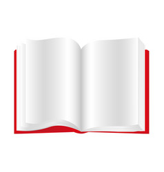 red book open icon vector image