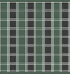 seamless tartan pattern green and grey kilt vector image
