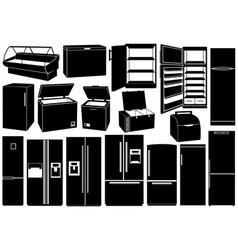 Set of different refrigerators vector image vector image