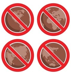 Stop global earth pollution vector