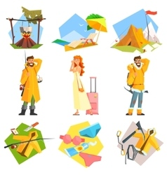 Travel and Vacation Colourful vector image