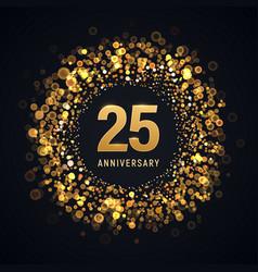 25 years anniversary isolated design vector