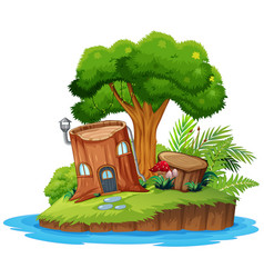 A nature tree island vector
