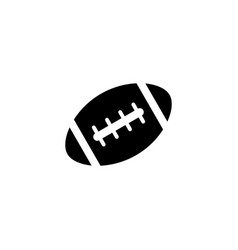 american football ball solid icon college sport vector image