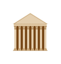 Ancient roman building with columns and frieze vector