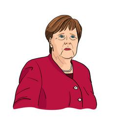 Angela merkel chancellor germany vector
