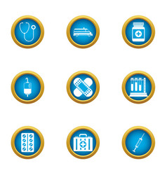 Balm icons set flat style vector