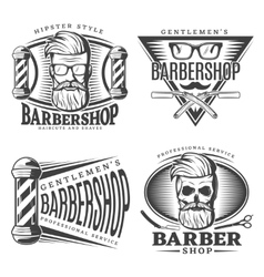 Barbershop Design Elements Set vector