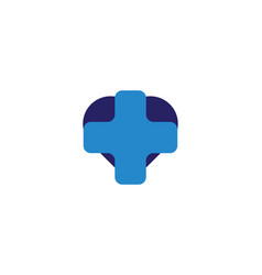 blue cross medical healthy logo designs vector image