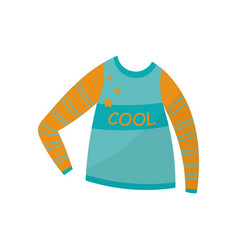 blue long sleeve boys wear on vector image