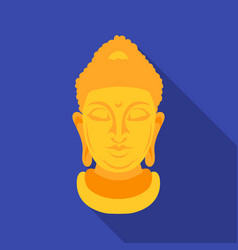 Buddha icon in flat style isolated on white vector