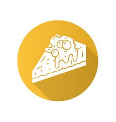 Cheesecake flat design long shadow glyph icon vector