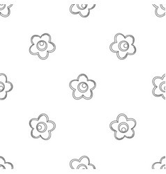 choco flower icon outline style vector image