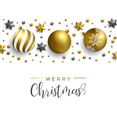 christmas gold decoration layout greeting card vector image
