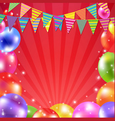 color balloon banner vector image