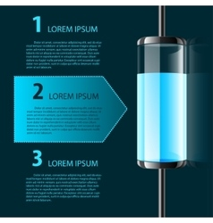 colored glass bulb infographic vector image
