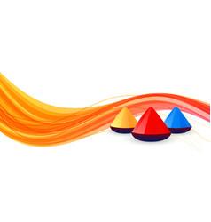 Colorful banner design for happy holi festival vector