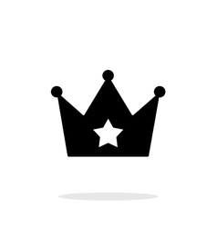 Crown simple icon on white background vector