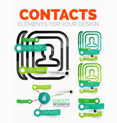Diagram elements set of contacts book vector