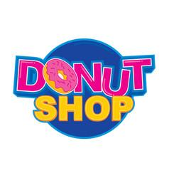 Donut shop logo design vector