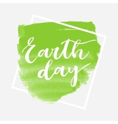 Earth day greeting card vector