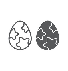 easter egg line and glyph icon easter and food vector image