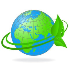 ecology of the planet earth vector image