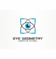 eye geometry healthcare tech creative symbol vector image