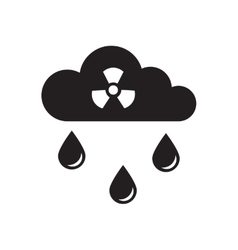 Flat icon in black and white toxic rain vector
