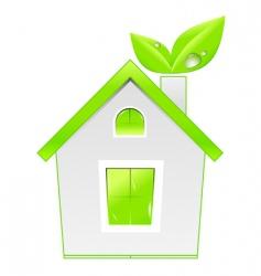 Green house icon ecology concept vector