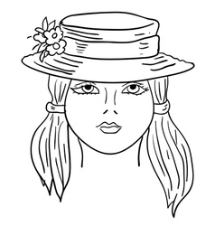 hand-drawn fashion model vector image