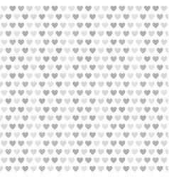 Heart pattern gray and white seamless vector