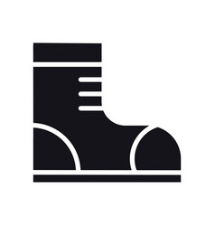 Hiking shoes icon trekking boots sign and symbol vector