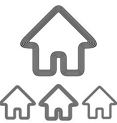Home logo design set vector