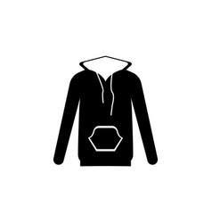Hood jacket icon vector