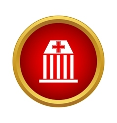 Hospital icon simple style vector image
