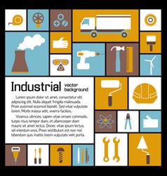 Industrial elements template vector