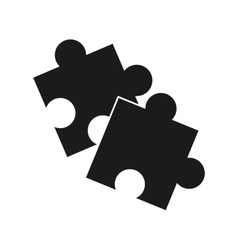 Isolated puzzle design vector