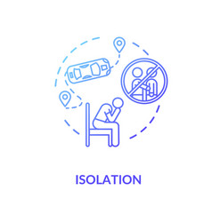Isolation blue concept icon vector