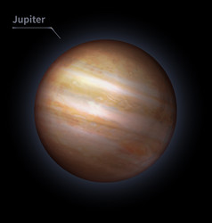 jupiter realistic planet is isolated on the cosmic vector image