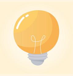 light bulb energy electricity cartoon icon vector image