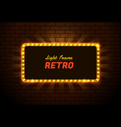 Light frame retro vector