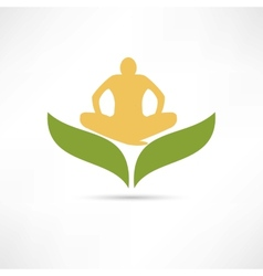 lotus posture icon vector image