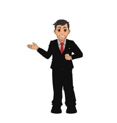 Man bearded suit business executive vector