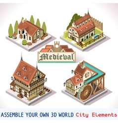 Medieval 02 Tiles Isometric vector