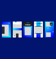 modern gradient instagram stories template vector image