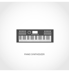 Musical instrument piano flat icon vector