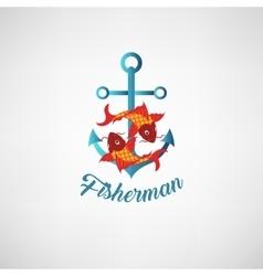 nautical anchor Symbol of vector image
