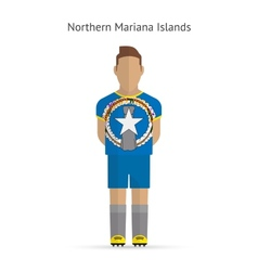 Northern Mariana Islands football player Soccer vector